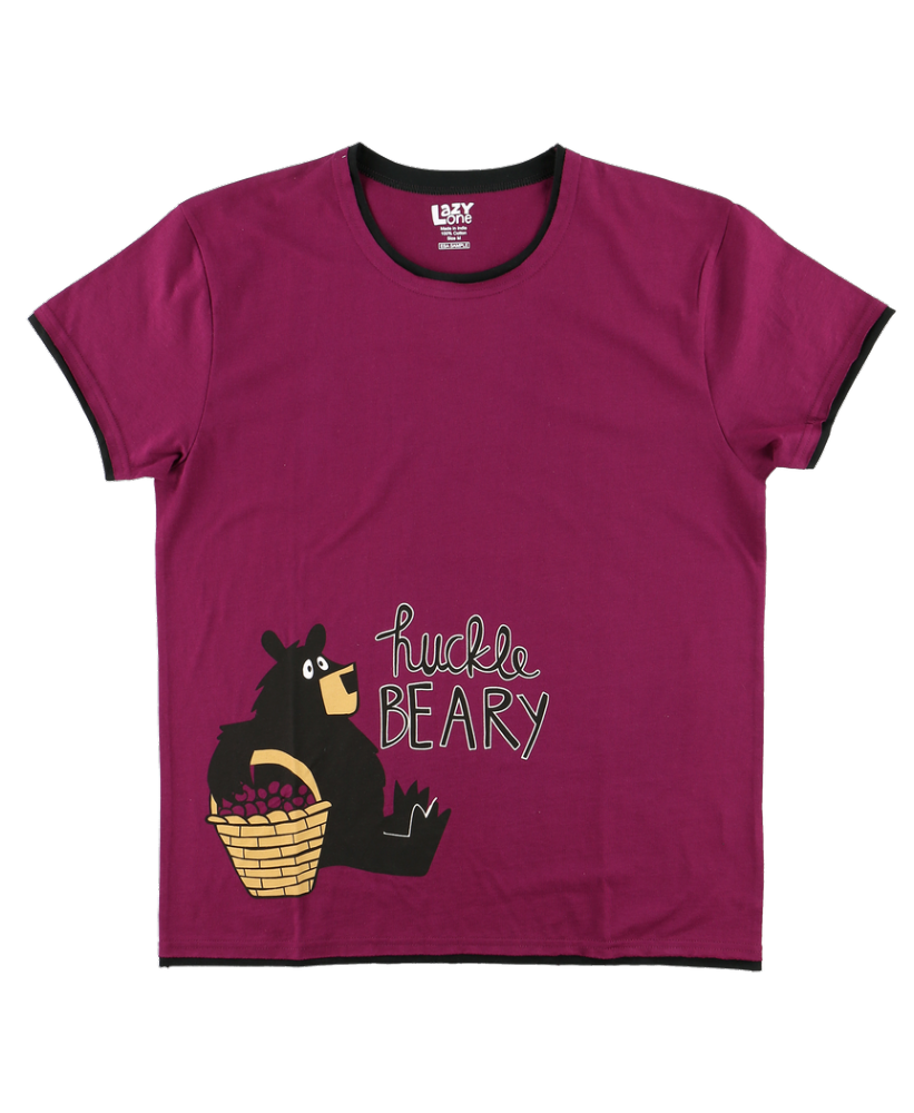 Huckle-Beary -  Women's PJ T-shirt - Lazy One®